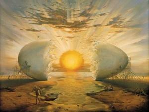 Vladimir Kush's the egg sun