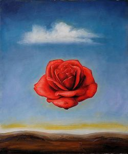 Salvador Dali's The Meditative Rose