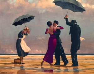 'The Singing Butler' by artist Jack Vettriano. Vettriano said today that he does not want to be remembered for 'The Singing Butler' - one of his most famous pictures.  Vettriano, 58, was speaking ahead of an exhibition at Kirkcaldy Museum and Art Gallery in Fife featuring 35 new works from the last few years, many inspired by visits to Italy and the French Riviera.  Vettriano's The Singing Butler fetched £750,000 at auction in 2004 PRESS ASSOCIATION Photo. Issue date: Wednesday March 24, 2010.  See PA story ARTS Vettriano. Photo credit should read: Jack Vettriano /PA Wire Handout photo issued by the artist