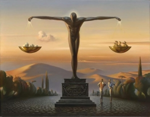 Vladimir Kush's surreal landscapes